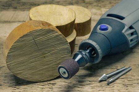 The Woodworking Do It Yourself Tools on the Workbench