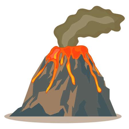 Volcano, volcano icon, lava, mountain Flat design vector illustration vector