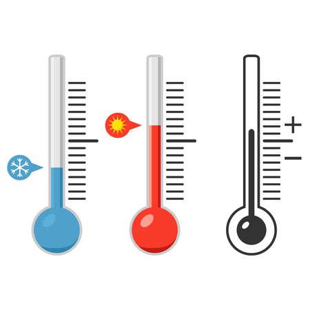 design: Thermometer, temperature, measure the temperature. Flat design, vector illustration, vector.