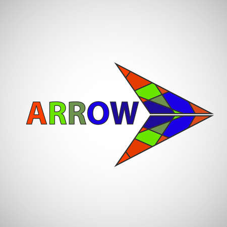 background next: Arrow, arrow icon, abstract arrow, pointer. Flat design, vector illustration, vector. Illustration