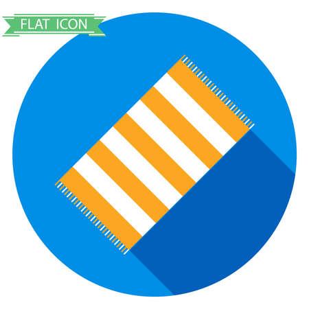 bathtowel: Beach towels, beach towels icon. Flat design, vector illustration, vector.