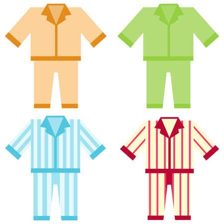 Icoon pyjama. Platte ontwerp, vector illustratie, vector.