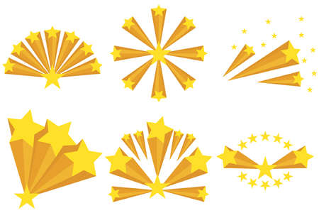 fire crackers: Fireworks of the stars, the star icon. Flat design, vector illustration, vector. Illustration