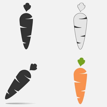 Carrot icon. Flat design, vector illustration, vector.