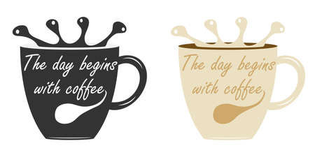 A cup of coffee. Flat design, vector illustration, vector.