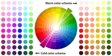 Farbspektrum Flache Design, Vektor-Illustration, Vektor.