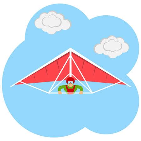 ilustration: The hang-glider icon ilustration.