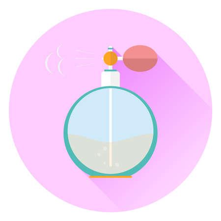 Retro perfume. Flat design, vector illustration, vector.