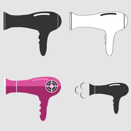 hairdryer: Hairdryer icon. Illustration