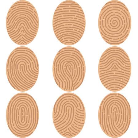 Fingerprints icon. Flat design, vector illustration, vector.