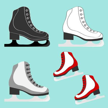 Skates icon. Flat design, vector illustration, vector. Illustration