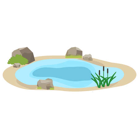 Lake icon. Flat design, vector illustration, vector.