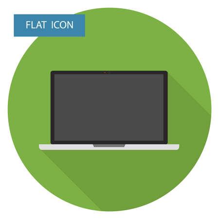 Laptop icon. Flat design, vector illustration, vector.