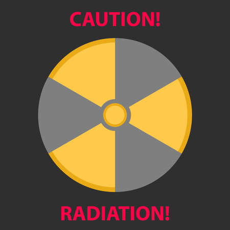 plutonium: Sign of radiation. Flat design, vector illustration, vector. Illustration