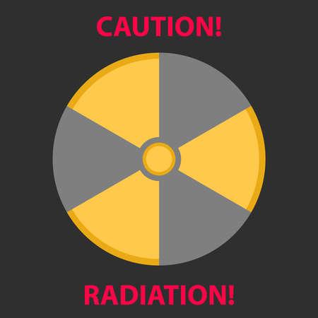 Sign of radiation. Flat design, vector illustration, vector. Illustration