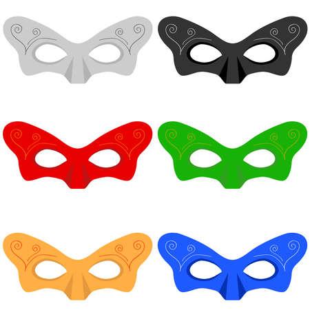 A set of masks. Flat design, vector illustration, vector.