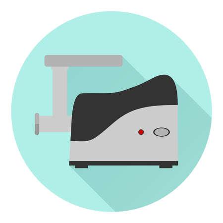meat chopper: Meat grinder icon. Flat design, vector illustration, vector.