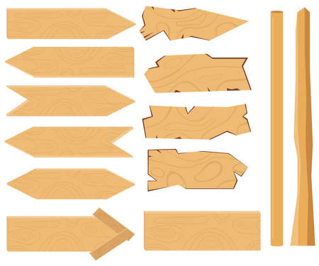 Pointing boards. Flat design, vector illustration, vector.