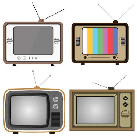 Retro TV. Flat design, vector illustration, vector. Vector Illustration