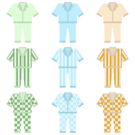 Pajamas icon. Flat design, vector illustration, vector.