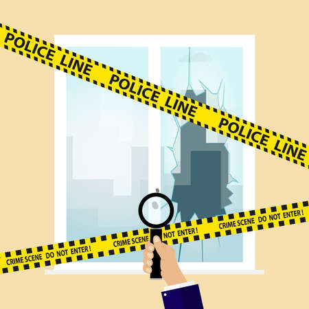 Crime scene. Flat design, vector illustration, vector.