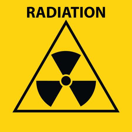 irradiation: Radiation sign. Flat design, vector illustration, vector. Illustration