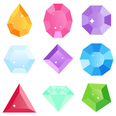 Gems icon. Flat design, vector illustration, vector.