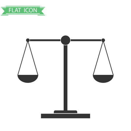 Balance of weights. Flat design, vector illustration, vector. Vettoriali