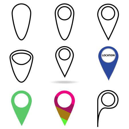Location icon. Flat design, vector illustration, vector.