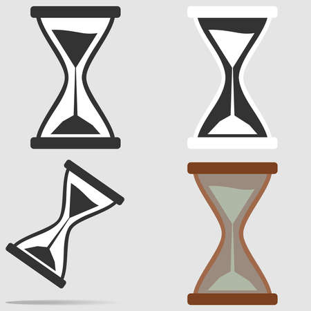 to trickle: Hourglass icon. Flat design, vector illustration, vector.