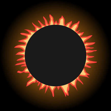 Eclipse of the sun. Flat design, vector illustration, vector.