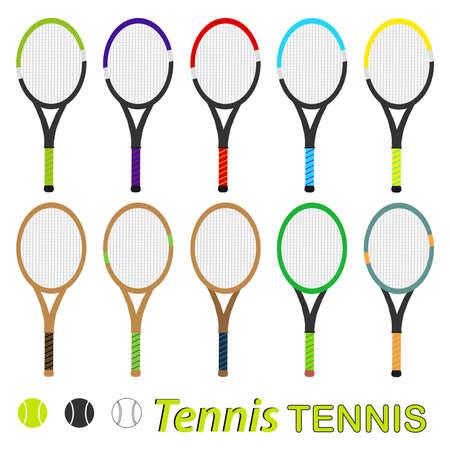 Tennis rocket. Flat design, vector illustration, vector.