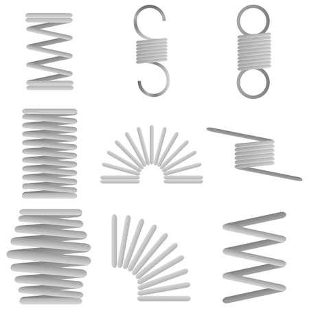Spiral metal springs. Stock Vector - 76557157