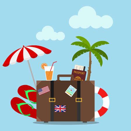 Travel icon. Flat design, vector illustration, vector. Illustration