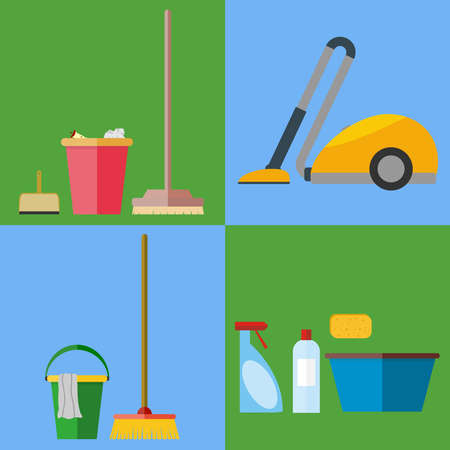 Equipment for cleaning. Flat design, vector illustration, vector.