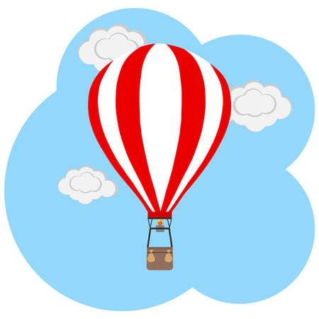 drift: Balloon icon. Flat design, vector illustration, vector.