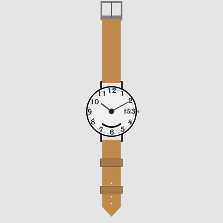 Wrist Watch. Sleek design, vector illustration