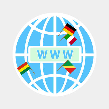 The icon WWW. Sleek design, vector illustration.