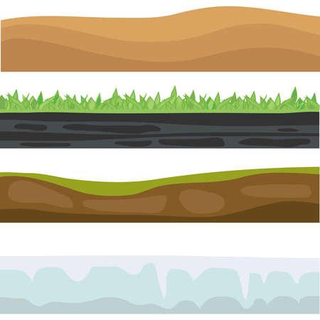 lithosphere: Earths landscape. Flat design, vector illustration, vector. Illustration
