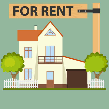 House for rent, rental property icon. Flat design, vector illustration, vector.