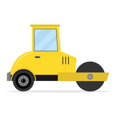 Asphalt paver. Flat design, vector illustration, vector.