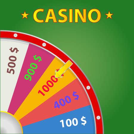 Casino Wheel of Fortune Flat design vector illustration