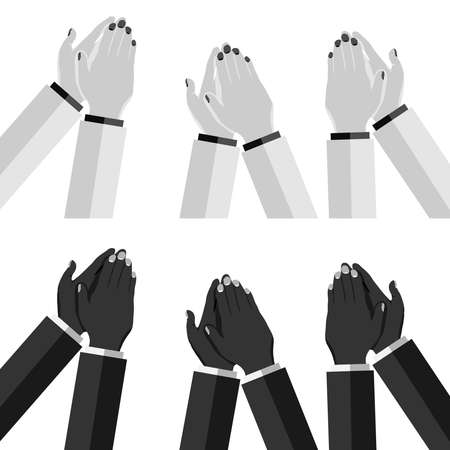Clap your hands. Applause. Isolated hands clapping. Flat design, vector illustration, vector.