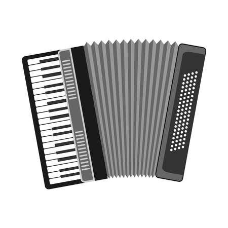 concertina: Accordion, musical instrument, accordion icon. Flat design, vector illustration, vector.