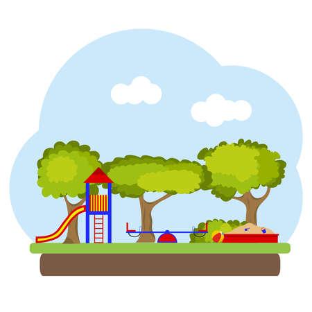 Ilustración del patio para niños.