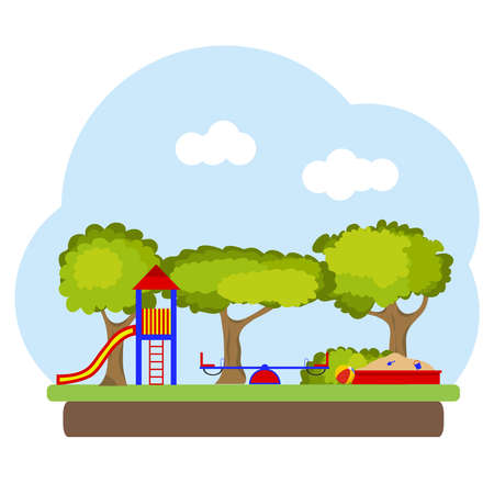 Playground illustration for children.