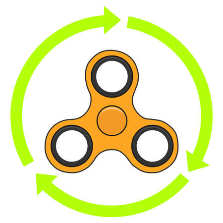A realistic spinner with arrows. Flat design, vector illustration, vector. Illustration