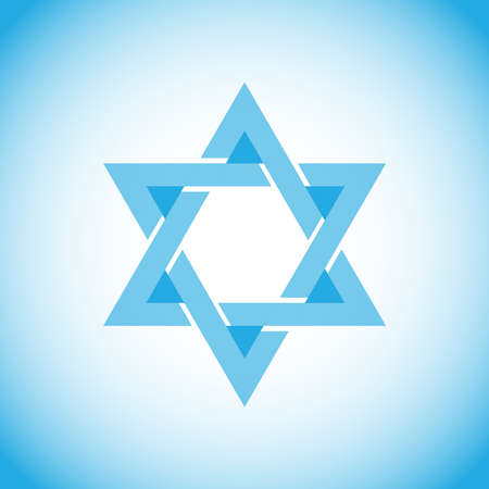 Star of David, a symbol of Israel, Hebrew. Flat design, vector illustration, vector.