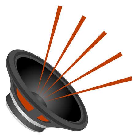 スピーカーからサウンド、オーディオ スピーカー、スピーカーは黒です。フラットなデザイン、ベクトル イラスト ベクターします。