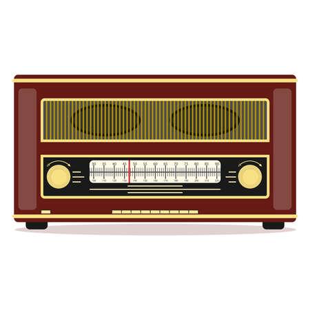 Retro radio, retro radio icon. Flat design, vector illustration, vector. Illustration